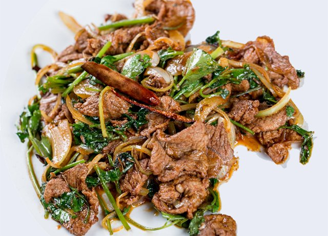 Mutton with vegetables